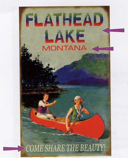 Custom Lake Sign