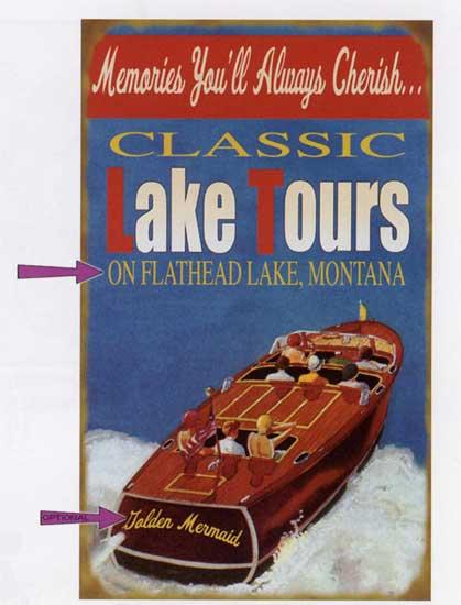 Custom Lake Tours Sign