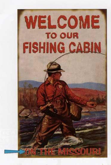 Custom Fishing Cabin Sign