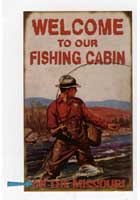Custom Fishing Cabin Sign
