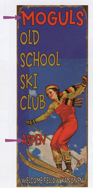 Custom Ski School Sign