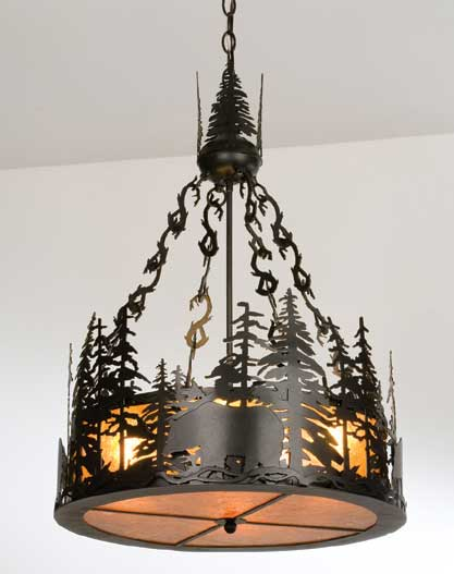 Black Bear Inverted Pendant Light