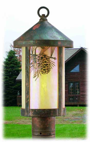Pine Cone Outdoor Post Mount