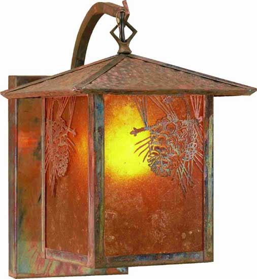 Pine Cone Outdoor Curved Arm Wall Sconce
