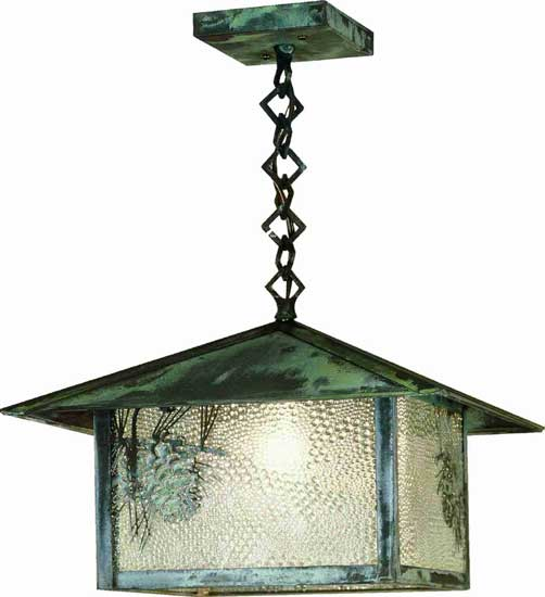Pine Cone Outdoor Ceiling Pendant Light Fixture