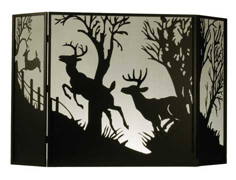 Doe/Bucks Folding Fire Screen