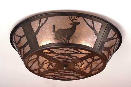 Deer Flushmount Light