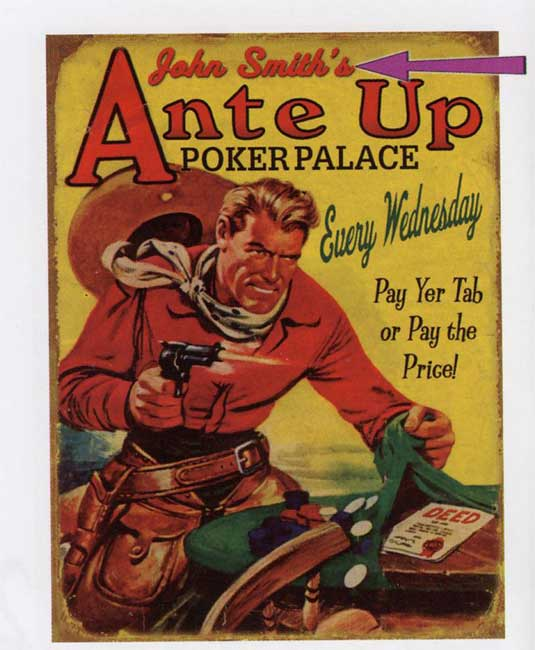 Custom Ante Up Sign