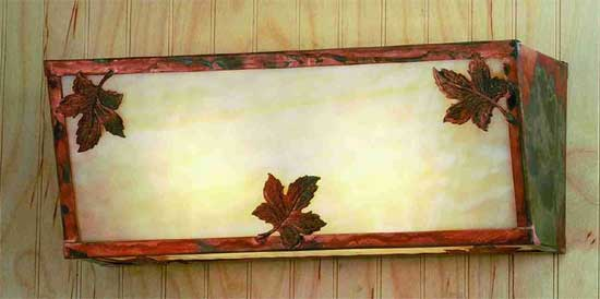 Maple Leaves Vanity Light