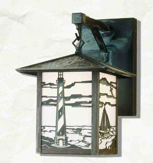 Lighthouse Outdoor Straight Arm Wall Sconce