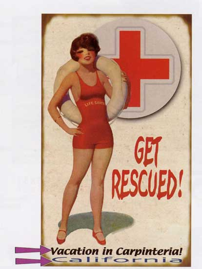 Custom Get Rescued Sign