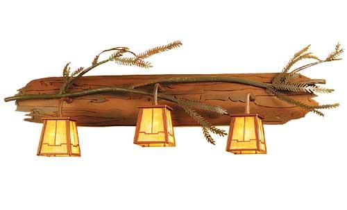 Pine Branch Vanity Light
