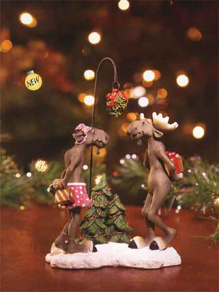 """Mistletoe Moose"" Mountain Mooses Figurine"
