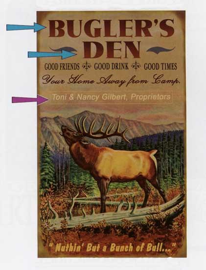 Custom Elk Sign