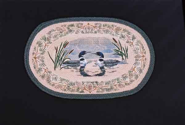 Hand Printed Loon Rug