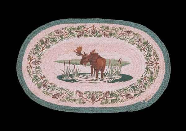 Hand Printed Moose Creek Rug