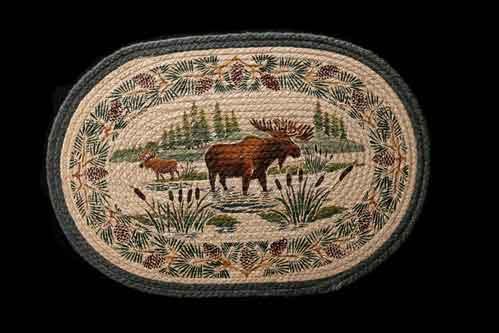 Hand Printed Moose Wading Rug
