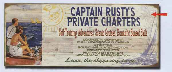 Custom Captain's Sign