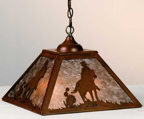 Cowboy Pendant Light Fixture