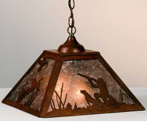 Hunter and Lab Pendant Light Fixture