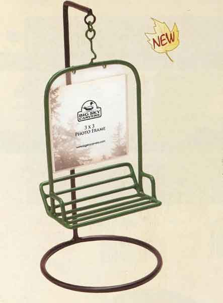 Swinging Chairlift 3 x 3 Photo Frame