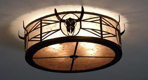 Steer Skull Flushmount Ceiling Fixture