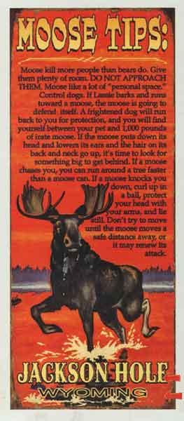 Custom Moose Tips Sign