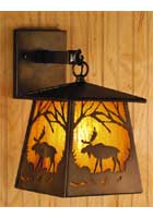 Moose Lantern Wall Sconce