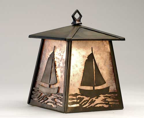 Sailboat Lantern Wall Sconce