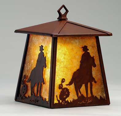 Cowboy & Horse Lantern/Wall Sconce