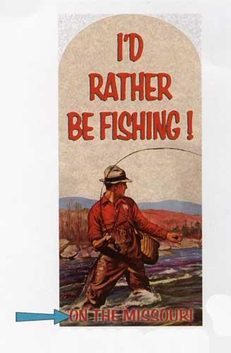 Custom Fishing Sign