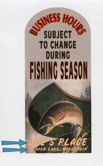 Custom Fishing Sign