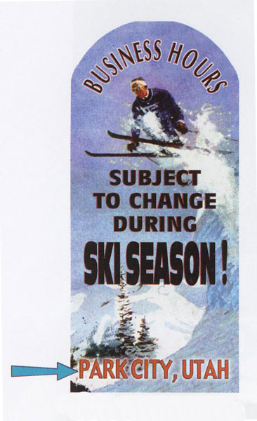 Custom Ski Season Sign