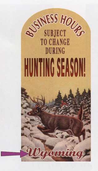 Custom Hunting Season Sign