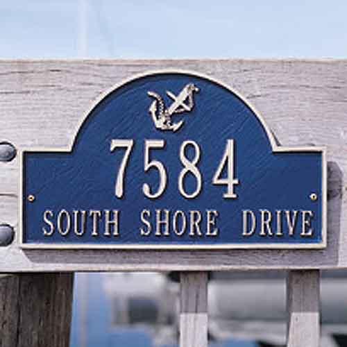 Anchor Arch Address Plaque
