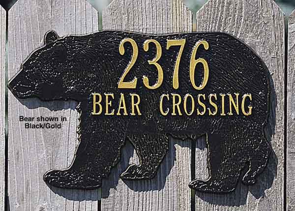 Bear Address Plaque