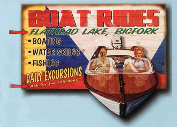Custom 2-Dimensional Boat Rides Sign