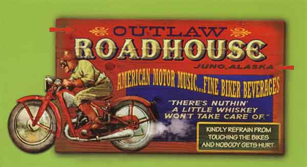 Custom 2-Dimensional Roadhouse Sign