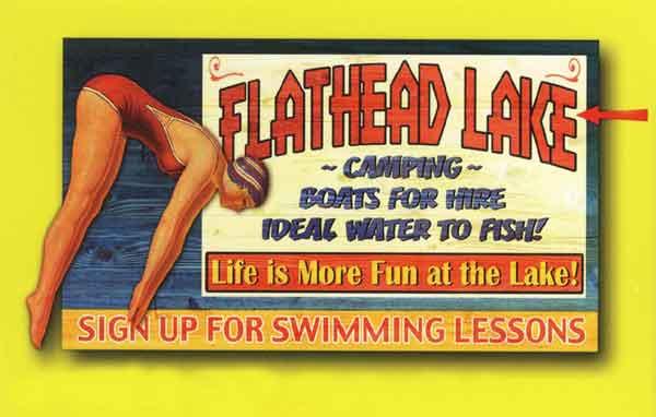 Custom 2-Dimensional Swimming Sign