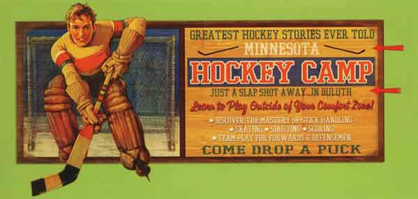 Custom 2-Dimensional Hockey Camp Sign