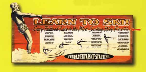 Custom 2-Dimensional Learn to Ski Sign