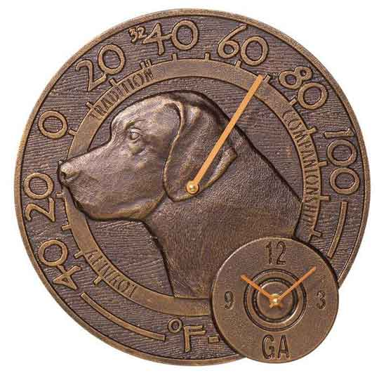 Labrador Thermometer Clock