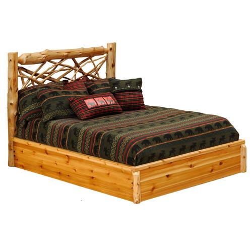 Cedar Twig Platform Bed
