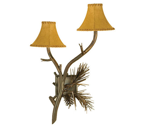 Pine Two Light Wall Sconce