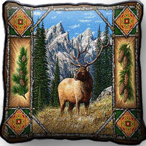 Elk Lodge Pillow