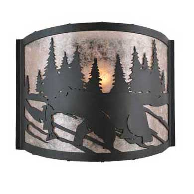 Bear with Fish Wall Sconce