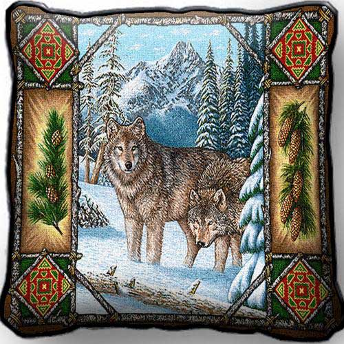 Wolf Lodge Pillow