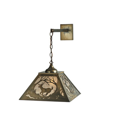 Deer at Dawn Hanging Wall Sconce