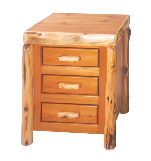 Cedar Three Drawer Nightstand