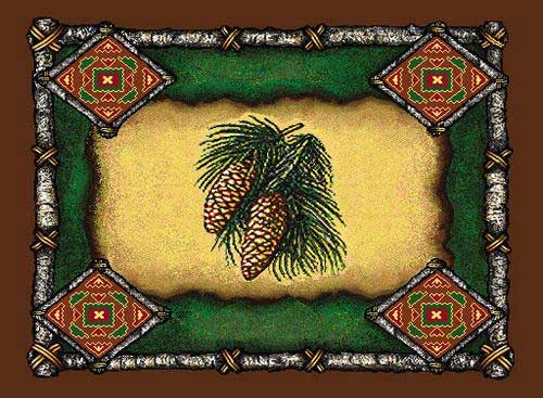Pine Cone Lodge Place Mat